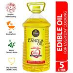 DiSano Canola Oil, for All Cooking Needs, Lowest in Saturated Fat, 5L