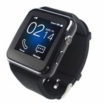 Bakeey X6 Curved HD Camera SIM Card Call Sleep Monitor Built-in Apps Smart Watch for iOS Android - Black
