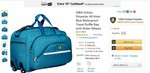 SIBIA Unisex Polyester 40 litres Blue Waterproof Travel Duffle Bag with Roller Wheels