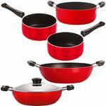 Nirlon Non-Stick Gas Compatible Superior Quality 5 Piece Cookware Essential Combo Set @1,037