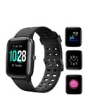 HolyHigh Smart Watch Waterproof Fitness Tracker Band 1.3' Touch Screen Fitness Watch Heart Rate Sleep Monitor Step Calorie Counter Call SMS Alert Activity Tracker for Men Women Ladies (Black)