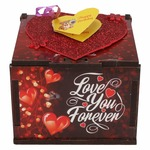 Valentine day gift  (Love You Forever Wooden Box Greeting Card)