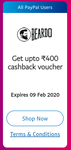 Get Assured Cashback Voucher Up to Rs. 400 with PayPal on Beardo for minimum transcation of Rs.100 (all users)