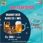 Smaaash Thane : Draught Beer/IMFL (3 glass/pegs) at ₹366 on 28th & 29th Feb
