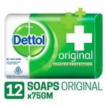 Dettol Original Soap - 75 g (Pack of 12)