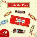 Celebrations Assorted Chocolate Gift Pack (Snickers, Mars, Bounty, Galaxy Jewels)- 197g Box Rs.159