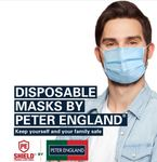 Peter England Mask - Pack of 30@ Rs 300 (PE- Official Website)