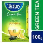 [pantry] Tetley Long Leaf Green Tea, Lemon, 100g with 25% extra (125g)