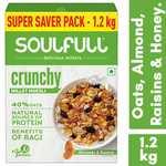 Soulfull Millet Muesli - Crunchy, Contains Almonds & Raisins- 1.2kg