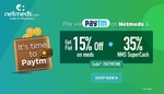 Flat 15% OFF* Medicines + 35% NMS SuperCash on Netmeds