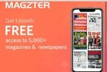 free 1 month Magzter subscription from Myntra
