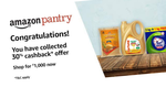 Flat 30% cashback on Rs. 1000 Pantry purchase on Amazon || 11th - 31st may