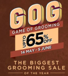 The Biggest Grooming Sale Of The Year (14th May - 5th June) upto 65% off