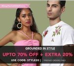 Grounded In Style Upto 70% off + 20 Extra