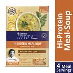 [PANTRY] Saffola FITTIFY Gourmet, Hi Protein Meal-Soup, with 5 superfoods and Multigrain Crunchies, Mexican Sweet Corn, 244 gm (4 Servings)