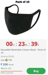 Reusable Cotton Mask (pack of 10)