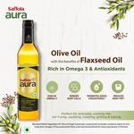 Saffola Aura Extra Virgin Olive and Flaxseed Oil  (500 ml)