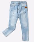 AJIO Mid-Rise Denim Slim Fit Jeans on sale