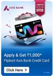 Apply For Flipkart Axis Card Get Rs.1000 Flipkart Gift Vouchers