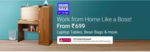 Flipkart Grand Furniture Sale - 10% off on Axis bank cards for Work From Home furnitures