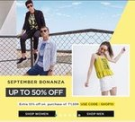 Lifestyle September Bonaza Sale Upto 50% Off + Extra 10% off On Clothing , Footwear , Makeup , Accessories And More