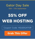 [Last Day] Gator Day Sale'-  Get Flat 55% off on hosting + Free .net along with hosting