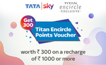Recharge with Rs. 1000 & get 300 Titan Encircle Point vouchers worth Rs. 300