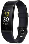 realme Band (Black) - Full Colour Screen with Touchkey, Real-time Heart Rate Monitor, in-Built USB Charging, IP68 Water Resistant