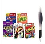 Uno Card , Uno Dare , Uno Flip , Uno Blink Playing Card Game & Phase 10 The World's Fastest Card Game, Multi Color (Pack - 5) with Free Spray Pen