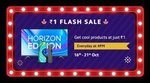 Diwali with Mi Sale [16 – 21 Oct]  +1rs Flash sale everyday at 4PM