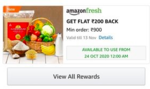 Live - Get Amazon fresh 200 cashback on 900 coupon on doing upi transaction/placing any order (User specific)