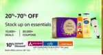 Amazon GIF Grocery Sale (24th-28th Oct)    20-70 % OFF On 40000+ daily essentials + 10% off via Axis/Citi/ICICI Bank Cards