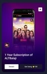 1 Year Subscription of ALTBalaji @ 150 super coins