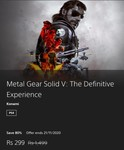 Metal Gear Solid V: The Definitive Experience [PS4 Game][PS Store]
