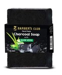Barber's Club Hand Made Organic Charcoal Soap - 100 gms (With Aloevera)