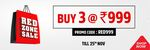 Last Day - Brand Factory Red Zone Sale Buy 3 At 999