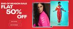 Reebok End Of Season Sale - Get 50% Off + 10% Cashback on HDFC Cards