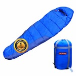 Trajectory Bonfire Sleeping Bag with 1 Year Warranty For Men and Women with Wallet and Phone Pocket (Blue)