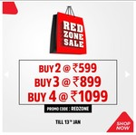 Brand Factory Red Zone Sale (till 13th Jan) | Buy 2 at Rs. 599 | Buy 3 at Rs. 899 | Buy 4 at Rs. 1099