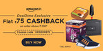 DesiDime Exclusive : Flat Rs 75 cashback on order above Rs 500 at Amazon (12th - 14th Jan)