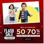 Lifestyle 12 hours Flash Sale | Flash 50-70% Off on Best of Kids Wear + Extra 15% off on Rs. 3499 or More