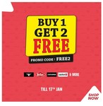 Ends on Tonight - Brand Factory Buy 1 Get 2 Free