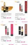 Loreal Paris Lipstick up to 60% off starting @ 300 Rs
