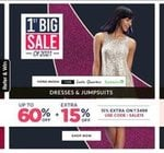 Lifestyle 1st Big Sale of 2021 | Buy1 Get 1 Free | Upto 60% off on Clothing Accessories + Extra 15% off On Top brands + Extra 10% off via ICICI cards