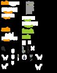 Wollzo Green Sparrow self Adhesive Wallpaper Sticker 99