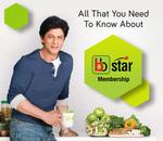 BigBasket Star 6 month membership at Rs.1 with visa platinum prepaid (imudra card)