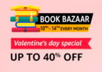 Amazon Book Bazaar Upto 40% Off  (10th To 14th February)