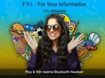 Flipkart FYI For Your Information E28 Life Jhingalala Win Realme bluetooth Headset 1 winner, GVs and SCs