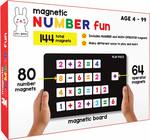 PLAY POCO Magnetic Number Fun - with 80 Number Magnets, 64 Operator Magnets, Magnetic Board and Equation Book - Learn Numbers, Counting and Simple Math (Age 4+)