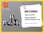 Flipkart Bid and win appliances